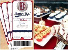 "Baseball Party@ Anna Wagner -- i love the invitation idea -- could use it for my little ""b"" boy"