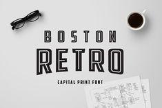 Boston Retro Print by Van Dyk on @creativemarket