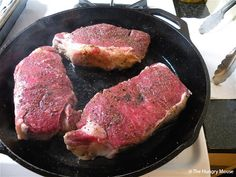 Grab an iron skillet and you'll have a restaurant-worthy steak every time. Never fails...yum, yum!