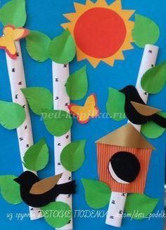 ДЕТСКИЕ ПОДЕЛКИ   VK Craft Work For Kids, Animal Crafts For Kids, Paper Crafts For Kids, Projects For Kids, Diy For Kids, Easy Crafts, Diy And Crafts, Arts And Crafts, Diy Paper