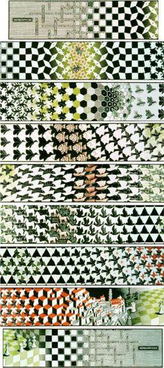 Metamorphosis III - M.C. Escher - WikiArt.org