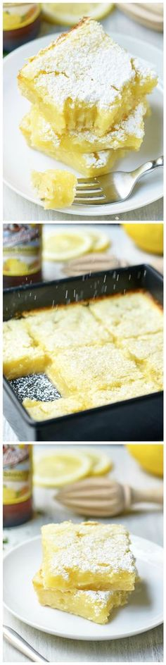 Summer Shandy Lemon Bars by showmetheyum via wholeyum #Bars #Lemon