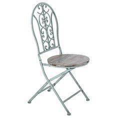 Cadeira Jardim Azul Antique Oldway - 95x40 cm Carro de Mola R$ 540,80