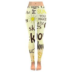 178647a096a InterestPrint Inspirational Quote Custom Stretchy Capri Leggings Skinny  Pants for Yoga Running Pilates Gym 2XS Capri