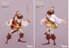 "Personagens de ""Pirates!"", por Christophe Lourdelet | THECAB - The Concept Art Blog"