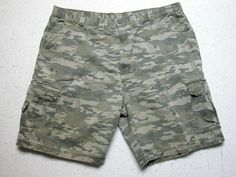 eb6033d56d Wrangler Authentic Cargo Shorts Mens Sz 44 Olive Camo Fatige Pockets  Camouflage #Wrangler #Cargo