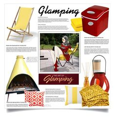 """Let's Go Glamping: Red & Yellow Delight, Glamping In The Garden Tonight!"" by leoll ❤ liked on Polyvore featuring interior, interiors, interior design, home, home decor, interior decorating, Paddywax, Telescope Casual, SPIRA and JAG Zoeppritz"