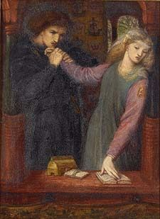 Amleto e Ofelia di Dante Gabriel Rossetti