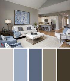 Morr Interiors Dorset Park Interior Design Palette #interiordesign #design #bedroom #blue #grey