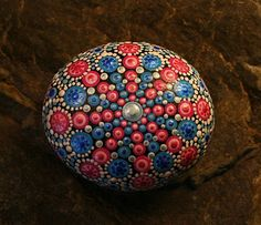 Pink & Blue Mandala Stone