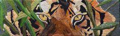 The Eye of the Tiger Elaborado por Sonia Guarín  Del Taller de Collage en Lana