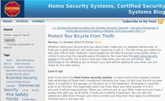 You may have the best home security system in the world, but it won't save your bike when you are out and about. Take advantage of the following tips to ensure your bike will be waiting for you when you are ready for the next outing.