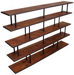 Mid century shelving unit, inspiration for DIY shelves