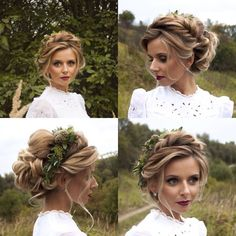 Great idea for a bridal updo Bride Hairstyles braut Brautfrisur Bridal great idea updo Weddin Easy Updo Hairstyles, Bride Hairstyles, Hairstyle Ideas, Trendy Hairstyles, Grecian Hairstyles, School Hairstyles, Bridal Updo, Wedding Updo, Braided Wedding Hair