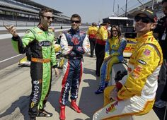Four of the Five Andretti Autosport Indy 500 drivers at the Indianapolis Motor Speedway for practice.
