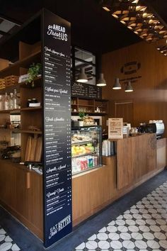 Ideas For Flowers Shop Cafe Restaurant Coffee Shop Counter, Cafe Counter, Counter Tops, Restaurant Counter, Café Bar, Deco Restaurant, Restaurant Design, Restaurant Ideas, Cafe Interior Design