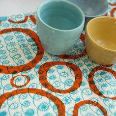 overprinted twist with loops  orange zest on by summersville, £5.00