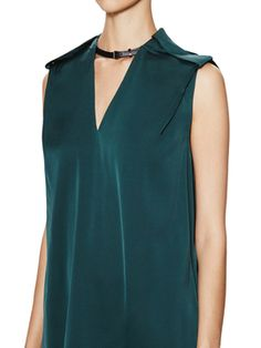Silk Blouse with Leather Strap from Shirt Alert: Under $60 on Gilt