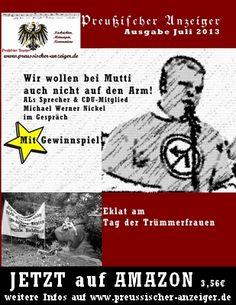 Der aktuelle Preußische Anzeiger ist erhältlich über Amazon: http://www.amazon.de/gp/product/1490990054/ref=as_li_ss_tl?ie=UTF8=1638=19454=1490990054=as2=pruzzen-21 (Downloadversion direkt über www.preussischer-anzeiger.de)