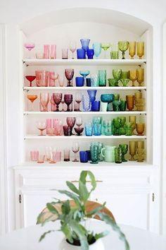 amo e cristal de colores cheers to colored glassware. / sfgirlbybay
