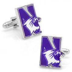33eb3ff4d Amazon.com: Northwestern University Wildcats Cufflinks: Cuff Links: Jewelry