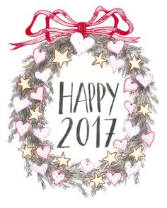 Happy New Year! Happy for everyone; happy for us & happy for the world!  Thank you for following and liking! There we go one year more!   #Illustration #pencil #handlettering #happynewyear #happy2017 #bestwishes #greetingcard #pencilart #graphicwork #instaart #heartsandstars #loveforeveryone