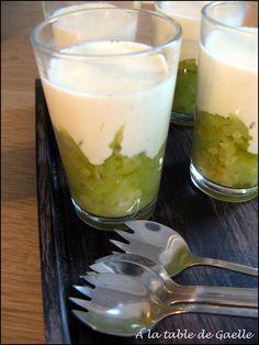Verrine apéritive : Caviar de courgette et crème de parmesan