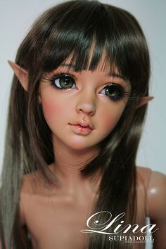 bjd doll ball jointed dolls supia lina with face make up Pretty Dolls, Cute Dolls, Beautiful Dolls, Ooak Dolls, Blythe Dolls, Barbie Dolls, Elf Doll, Doll Toys, Ball Jointed Dolls
