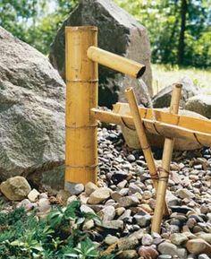 Fonte de bambu.