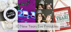 10 Last Minute New Year's Eve 2012 Printables!