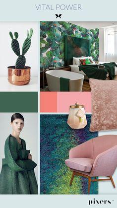 Pantone Color of the Year Greenery - Vital Power #greenery #pantone #wall mural #walpaper