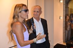Jo Squillo and Pietro Negra at #THEPINKOINVASION #sunglasses collection launch event #PINKO #MFW #SS16