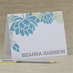 Love the colors and this design! It's the Floral Message© Note Cards & Envelopes from PMall! #flower
