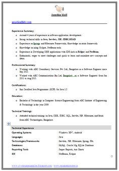 example template of an excellent computer science engineer experienced resume format with great job profile and