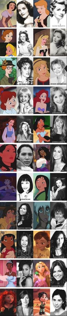 The Women of Disney and the voice actresses behind them!: I want to voice act at least once.....or couple times