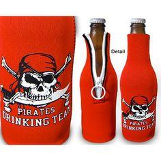 Pirate Drinking Team Bottle Koozie