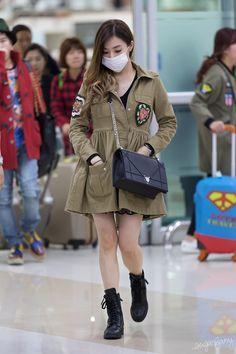 SNSD Tiffany Airport Fashion 151026 2015