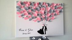 Guest book tree signature tree prints for 130 to 150 signatures on a canvas with frame, wedding, Tree Wedding, Wedding Frames, Wedding Guest Book, Wedding Cards, Wedding Gifts, Diy And Crafts, Paper Crafts, 3d Tree, Gold Book