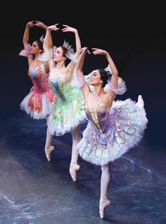 "Stella Abrera, Melanie Hamrick, and Misty Copeland in ""The Sleeping Beauty.""        Photo: G. Schiavone"
