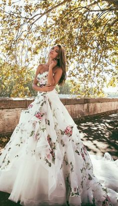 Alessandro Angelozzi floral wedding dress