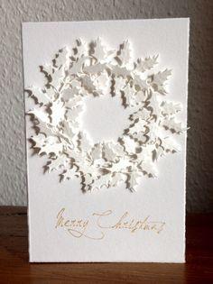 """Die schlichte Karte: Kränze, Kränze, """"Holiday Greens"""" mini Tim Holtz, """"Merry Christmas"""" Alexandra Renke, Weihnachten"""
