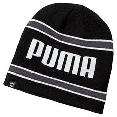 0720861f756 An internal fleece headband in these great value mens stripe pwrwarm golf  beanie hats by Puma