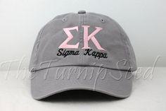 Sigma Kappa Sorority Baseball Cap Custom Color by TheTurnipSeed