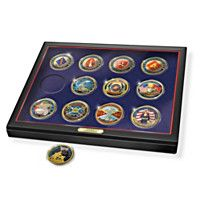 903923 - USMC Official Challenge Coin Collection With Disp…