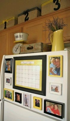Fridge calendar & photo collage!!!