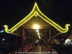Bridge over River near the market in Siem Reap, Cambodia.