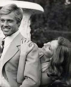 Robert Redford and Barbra Streisand in a promotional portrait for The Way We Were (1973).