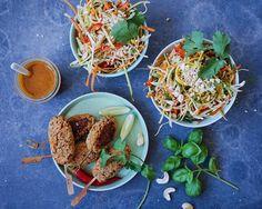 Vanløse blues.....: Uforglemmelig thaisalat & veganske thai spyd