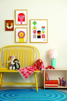 Inspiration for a colorful kids room or playroom Bright Painted Furniture, Colorful Furniture, Deco Kids, Big Girl Rooms, Kids Rooms, Room Kids, Kid Spaces, Kids Decor, Boy Decor