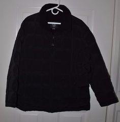 Women's J. Percy Black Puffy Ski Jacket/ Coat Zip Up Size XL #JPercy #Puffer